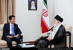 Iran supreme leader and Abe Shinzo Japan's PM