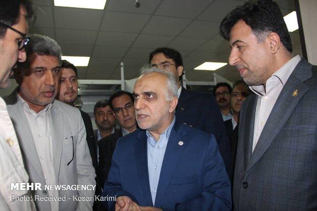 بازدید  فرهاد دژپسند  وزیر اقتصاد و دارایی از گمرک بندر امام خمینی