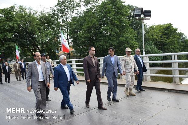 بازدید رئیس کل گمرک ایران از مرز زمینی آستارا