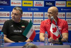 تمرین و نشست خبری تیم ملی والیبال ایران