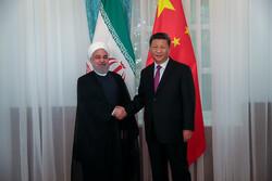 Ruhani, Çinli mevkidaşı ile görüştü