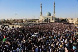 قم میں آیت اللہ محقق کابلی کی تشییع جنازہ