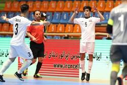 پیروزی تیم فوتسال عراق برابر چین تایپه