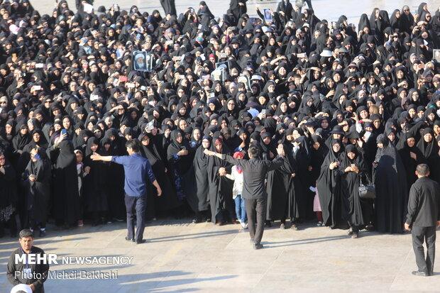 مراسم تشييع پيکر آيت الله محقق کابلي (ره)