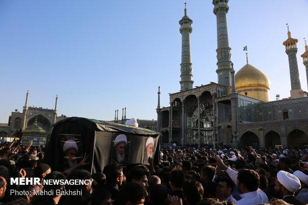 مراسم تشییع پیکر آیت الله محقق کابلی (ره)
