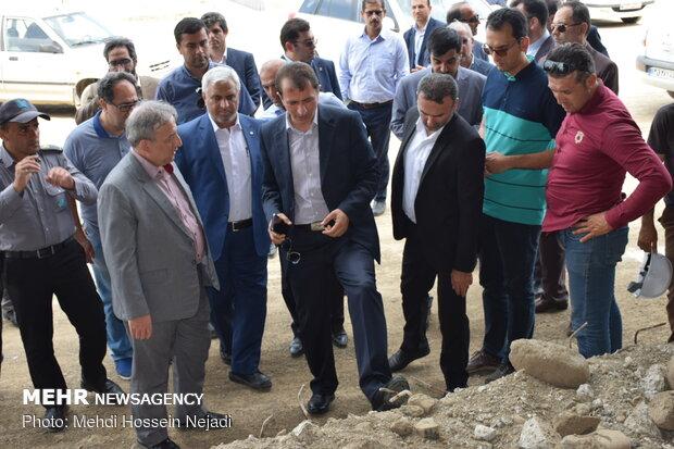 بازدید مهدی میر اشرفی رئیس کل گمرک ایران از محوطه گمرک و راه آهن آستارا