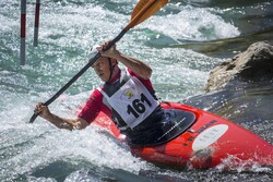 Canoe slalom competitions in SW Iran