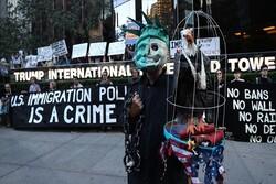 Trump'ın doğum gününde New York'ta protesto