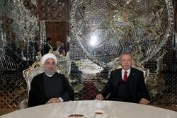 Cumhurbaşkanı Ruhani, Erdoğan ile görüştü