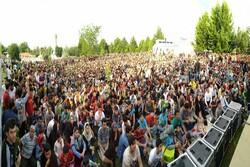 استقبال ارومیه ای ها از تماشای بازی ایران و لهستان در پارک ها