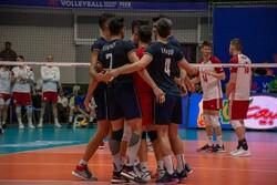 ایران اور پولینڈ کی قومی والیبال ٹیموں کے درمیان مقابلہ