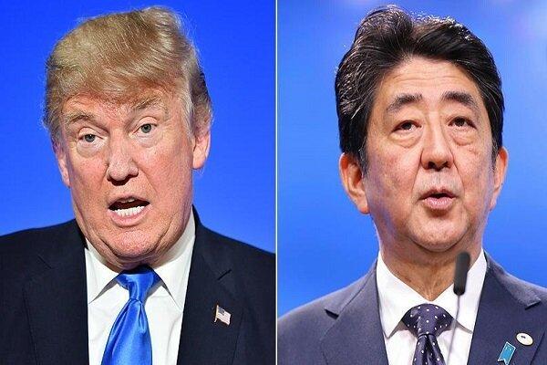 امریکی صدر ٹرمپ اور جاپان کے وزير اعظم کی ملاقات