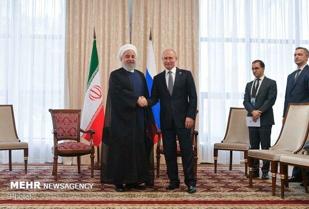 Rouhani meet Putin to in Bishkek