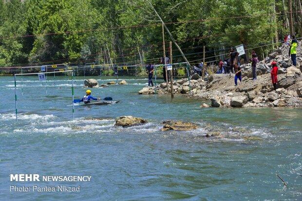 مسابقات قهرمانی قایقرانی اسلالوم و آبهای Cano Slalom competition in SW Iran