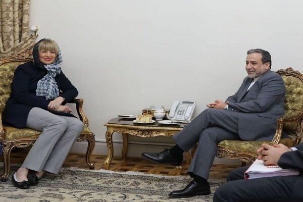 عراقچی سے ہلگا اشمید کی ملاقات