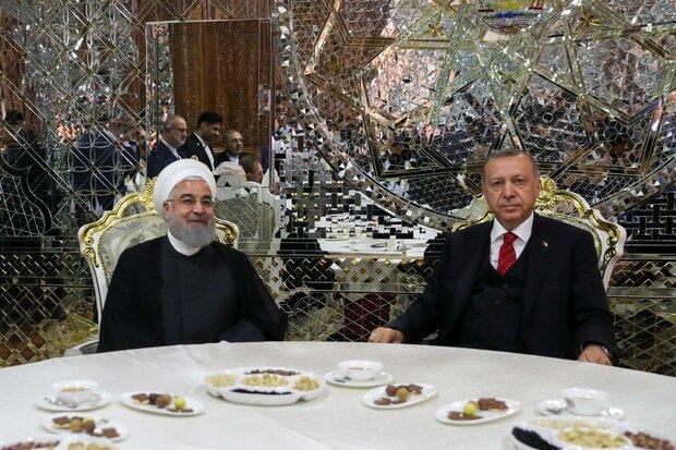 صدر حسن روحانی اور صدر اردوغان کی ملاقات