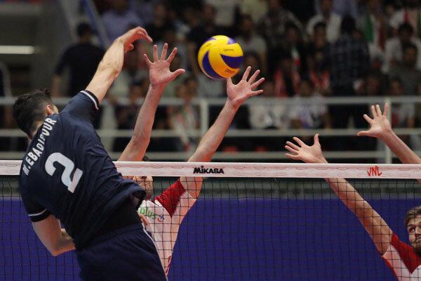 دیدار تیم ملی والیبال ایران و لهستان