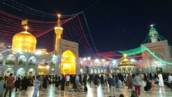 Pilgrims visit the holy shrine of Imam Reza (AS) in Mashhad