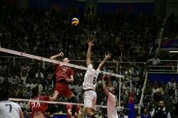 ایران اور روس کی قومی والیبال ٹیموں کے درمیان مقابلہ