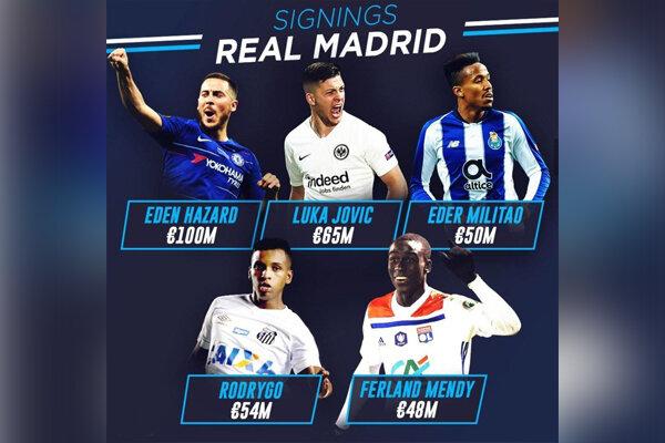 خریدهای رئال مادرید