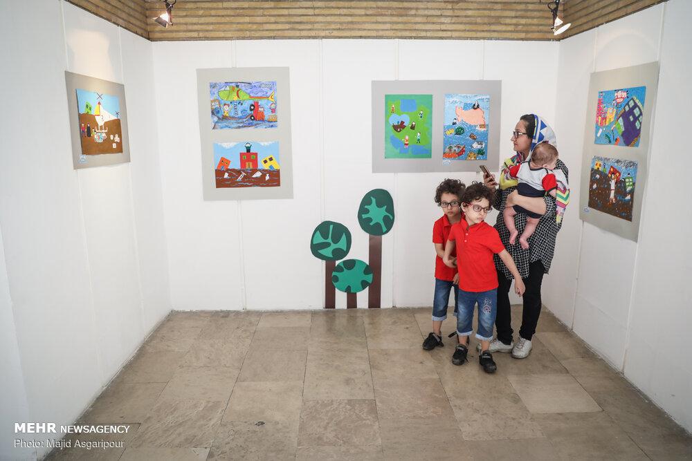 """افتتاح نمایشگاه """"قابی از لبخند ناب"""""""