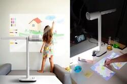 چراغ رومیزی که پرده سینما و رایانه تعاملی می شود