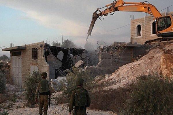 اسرائیلی فوج نے فلسطینیوں کے 16 مکانات تباہ کردیئے