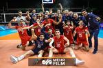 بدرقه اتوبوس تیم ملی والیبال توسط مردم اردبیل
