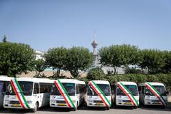 مراسم بهره برداری از ناوگان جدید اتوبوس و مینی بوس های شهری