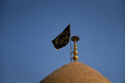 حضرت شاہ عبدالعظیم حسنی کے گنبد کا پرچم تبدیل