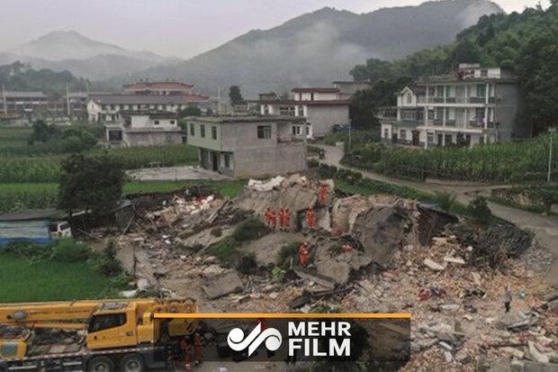 بیش از ۱۳۰ کشته و مجروح براثر زمینلرزه در چین
