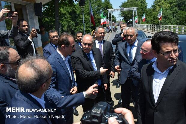 Azeri state customs chairman visits joint Astara border, customs office