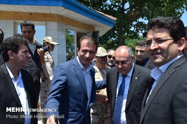 بازدید رئیس کل گمرک جمهوری آذربایجان از مرز و گمرک آستارا