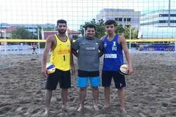 شکست نزدیک تیم زیر ۲۱ سال والیبال ساحلی ایران برابر فرانسه