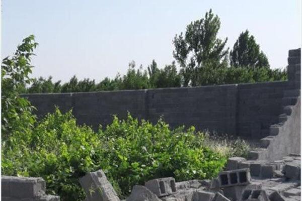 تخریب ۱۵ مورد دیوار کشی و تفکیک اراضی کشاورزی غیر مجاز در پیشوا