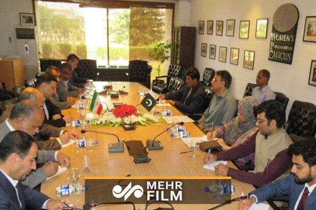 پاکستانی قومی اسمبلی میں ایرانی پارلیمانی دوستی گروپ کا استقبال