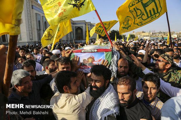 مدافع حرم شہید مؤمنی کی تشییع جنازہ
