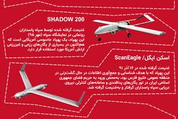 همه پهپادهای شکار شده آمریکایی توسط ایران