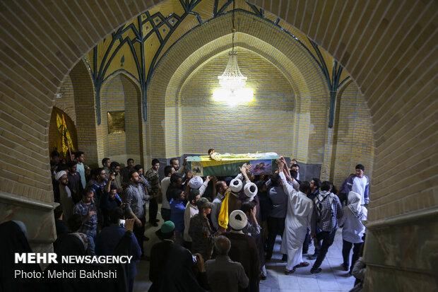 تشییع پیکر شهید مومنی، شهید مدافع حرم در قم