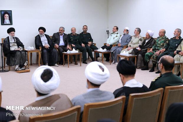 دیدار دستاندرکاران کنگره شهدای استان کردستان با رهبر معظم انقلاب