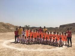 بهره برداری از زمین فوتبال کودکان کوره های آجرپزی شمس آباد