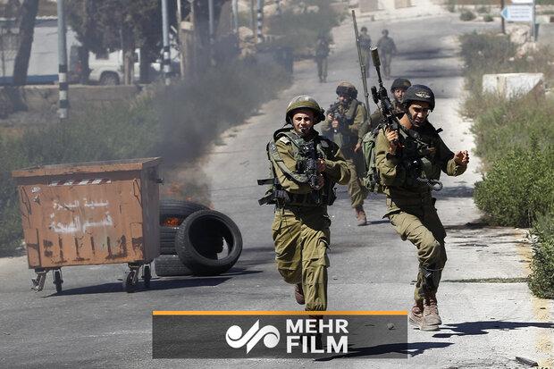 فلسطینیوں نے اسرائیلی فوجیوں کو فرار ہونے پر مجبور کردیا