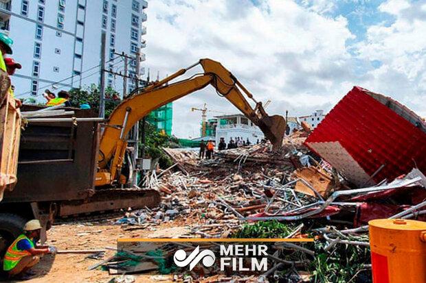 Kamboçya'da 7 katlı bina çöktü: 3 ölü