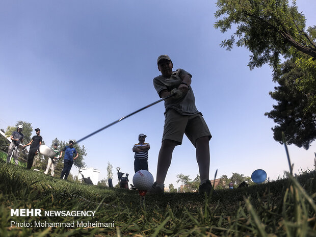 Iranian cadet national golf team training