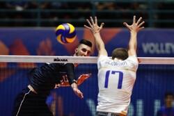 تیم ملی والیبال ایران و فرانسه