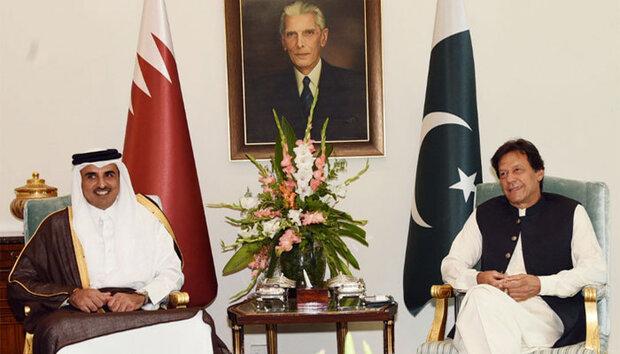 پاکستانی وزیر اعظم اور امیر قطر کی باہمی ملاقات