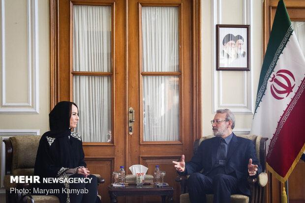 دیدار رئیس اتحادیه جهانی بینالمجالس با رئیس مجلس شورای اسلامی