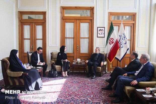 Parl. speaker Larijani meets with IPU president