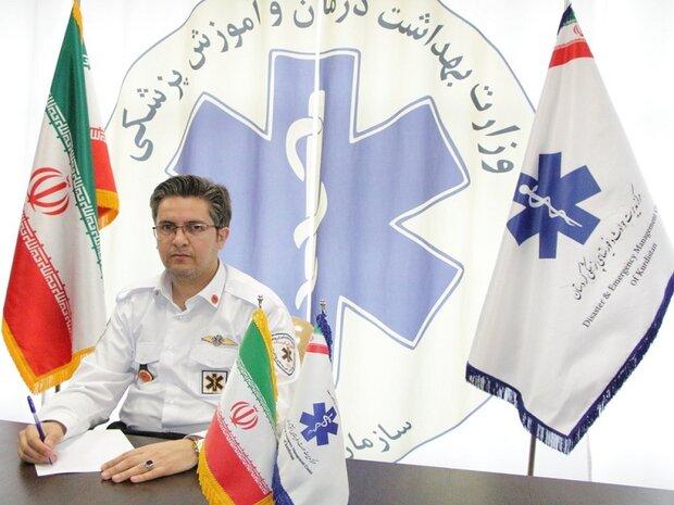 ۳۵ هزار ماموریت توسط فوریت های پزشکی کردستان انجام شد