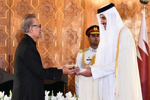 رئیسجمهوری پاکستان با امیر قطر دیدار کرد